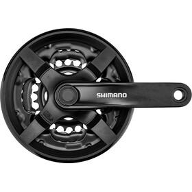 Shimano FC-TY301 Mechanizm korbowy Czworokąt 6/7/8 -rzędowa 42/ 34/24 zęby., black